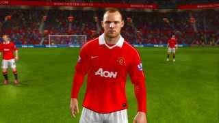 FIFA 11 Game Faces Man u and Real Madrid (PS3)