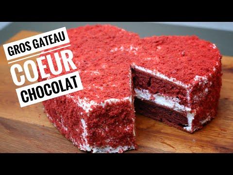 gros-gateau-coeur-chocolat-🍫🍫🍫-red-velvet-heart-cake
