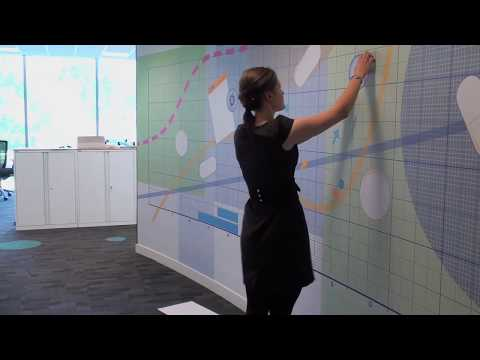 Magnetic wall installation - wall graphics