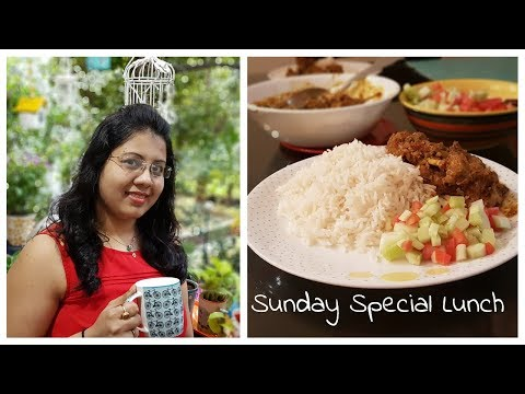 Sunday Special Lunch Cooked by My Husband | Chettinad Chicken Curry | Sunday Lunch Routine