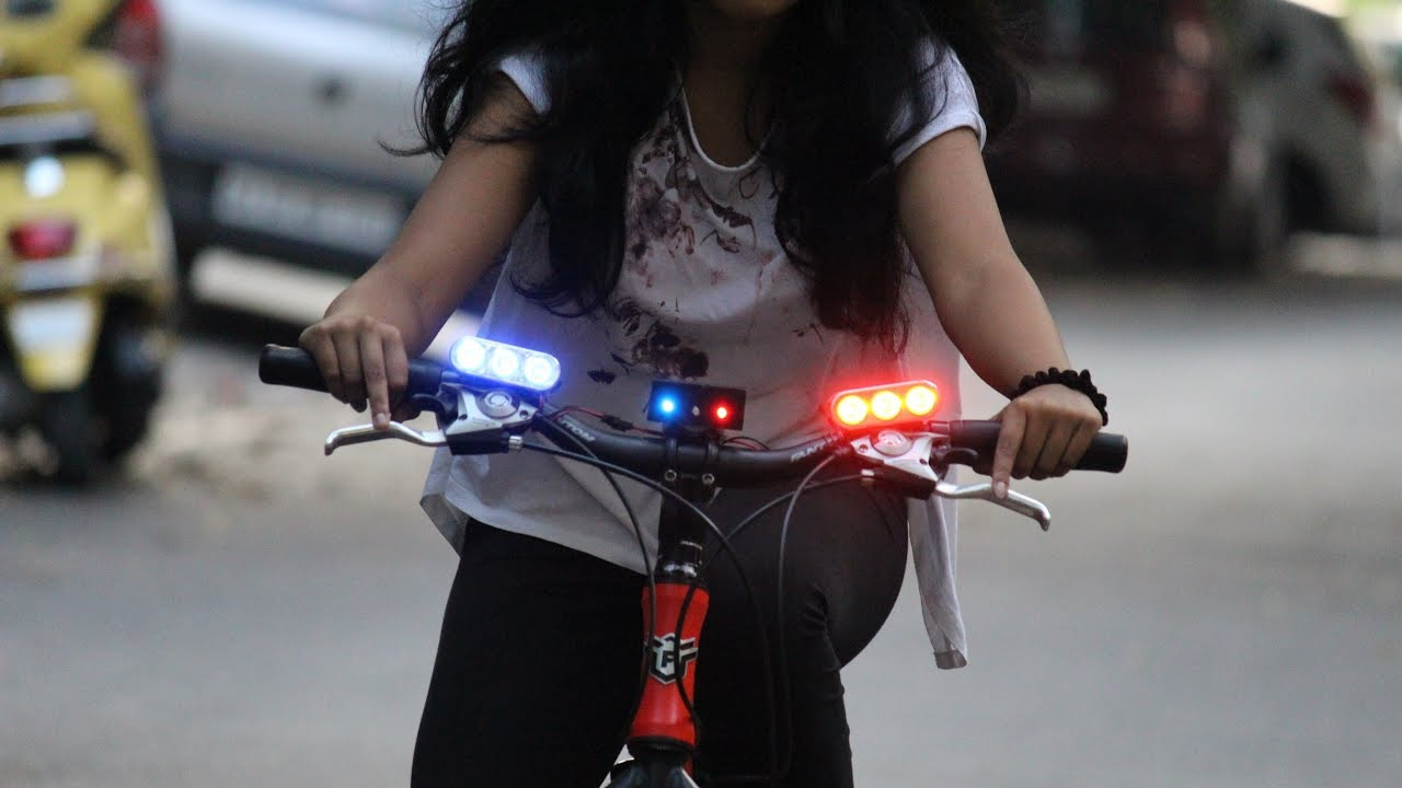 How To Make A Cycle Light Police Light Youtube