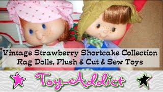 Vintage Strawberry Shortcake Collection ~ Rag Dolls, Plush & Cut n