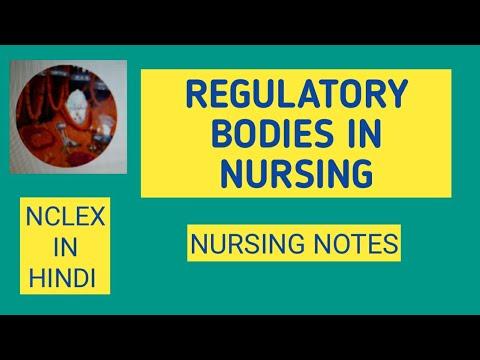 REGULATORY BODIES IN NURSING/NURSING NOTES/NCLEX IN HINDI