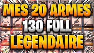 MES 20 ARMES 130 FULL LEGENDARY - FORTNITE SAUVER THE WORLD