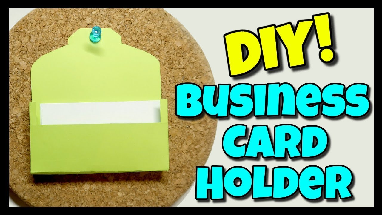 How To Make A Business Card Holder With Kristin