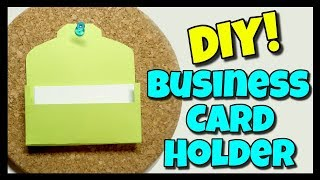 How To Make A Business Card Holder | Easy DIY