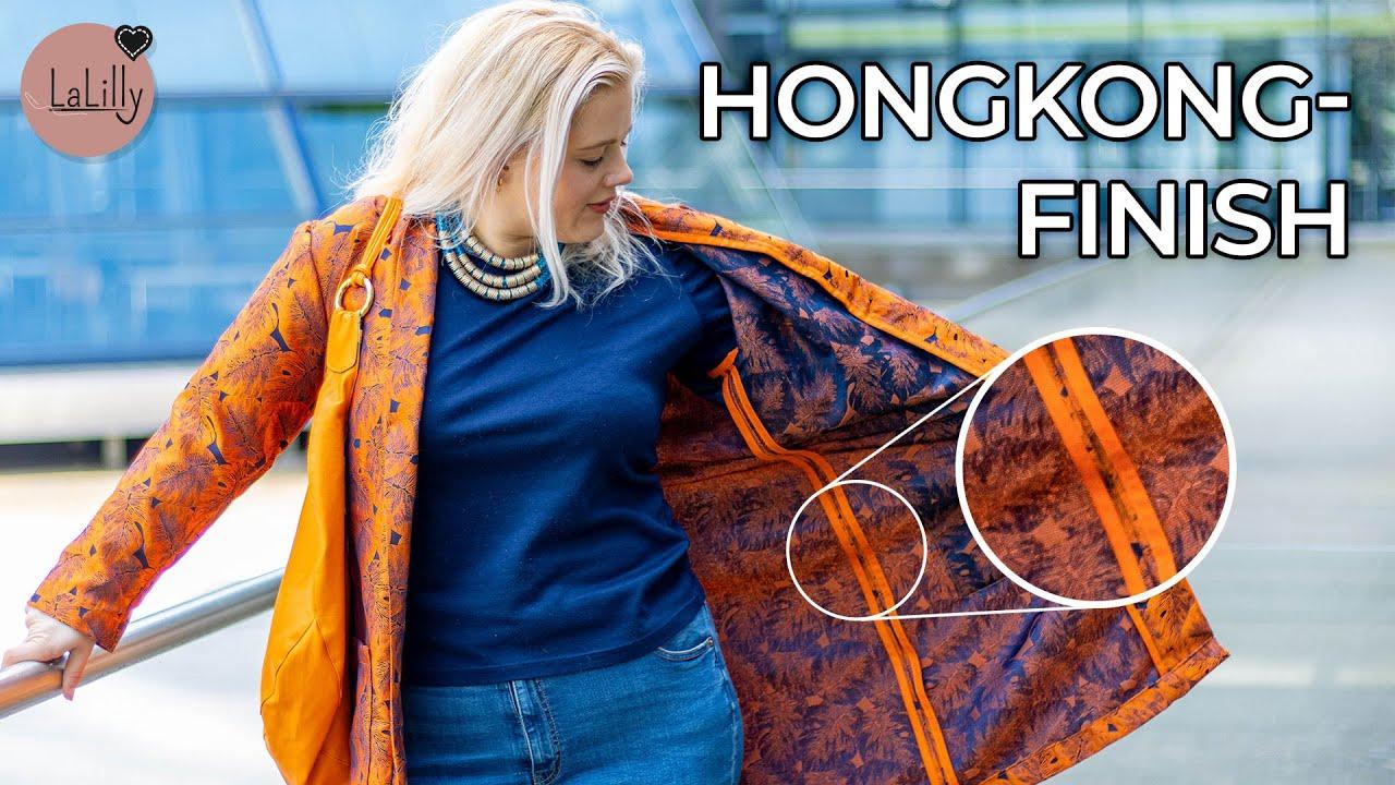 Mantel mit Honkong-Finish