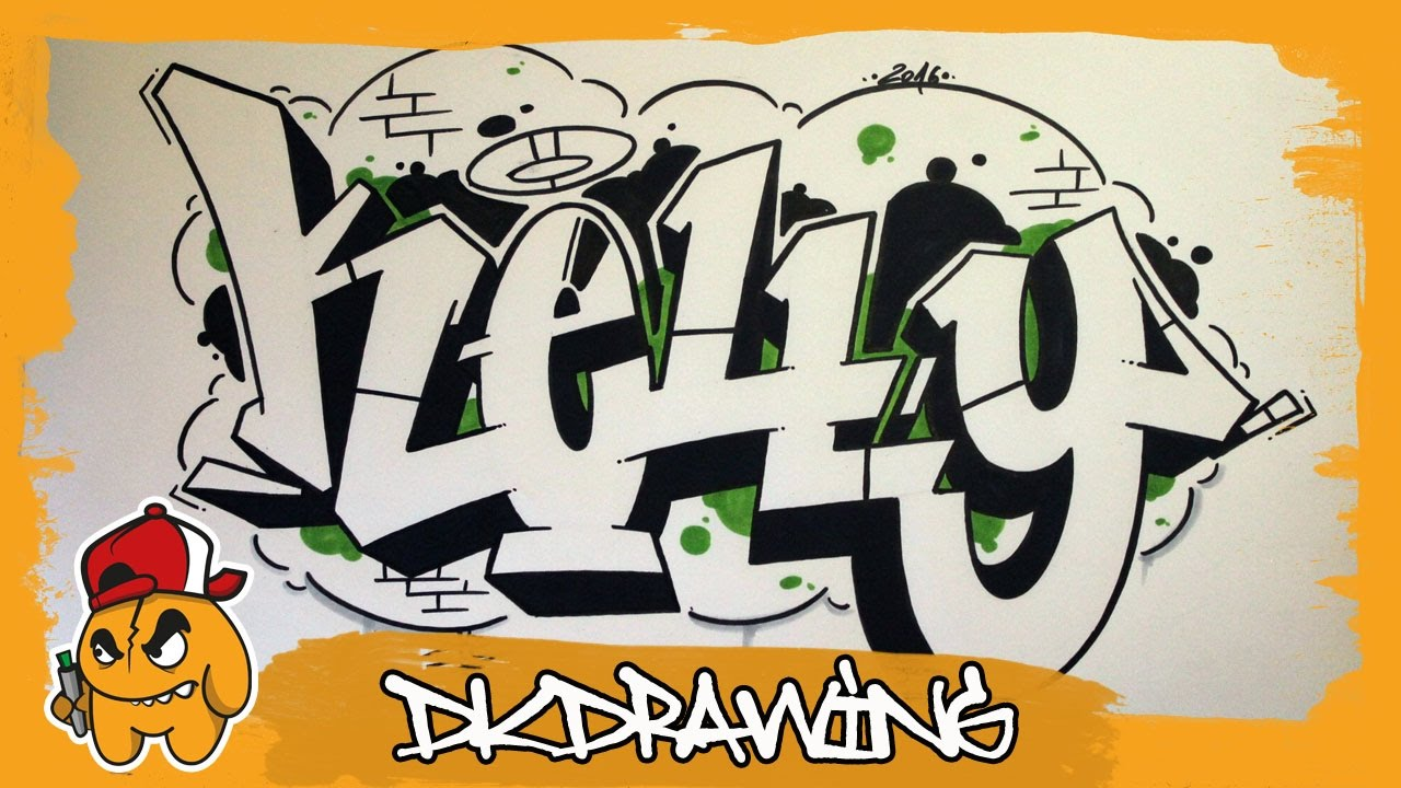 How to draw graffiti names kelly 29