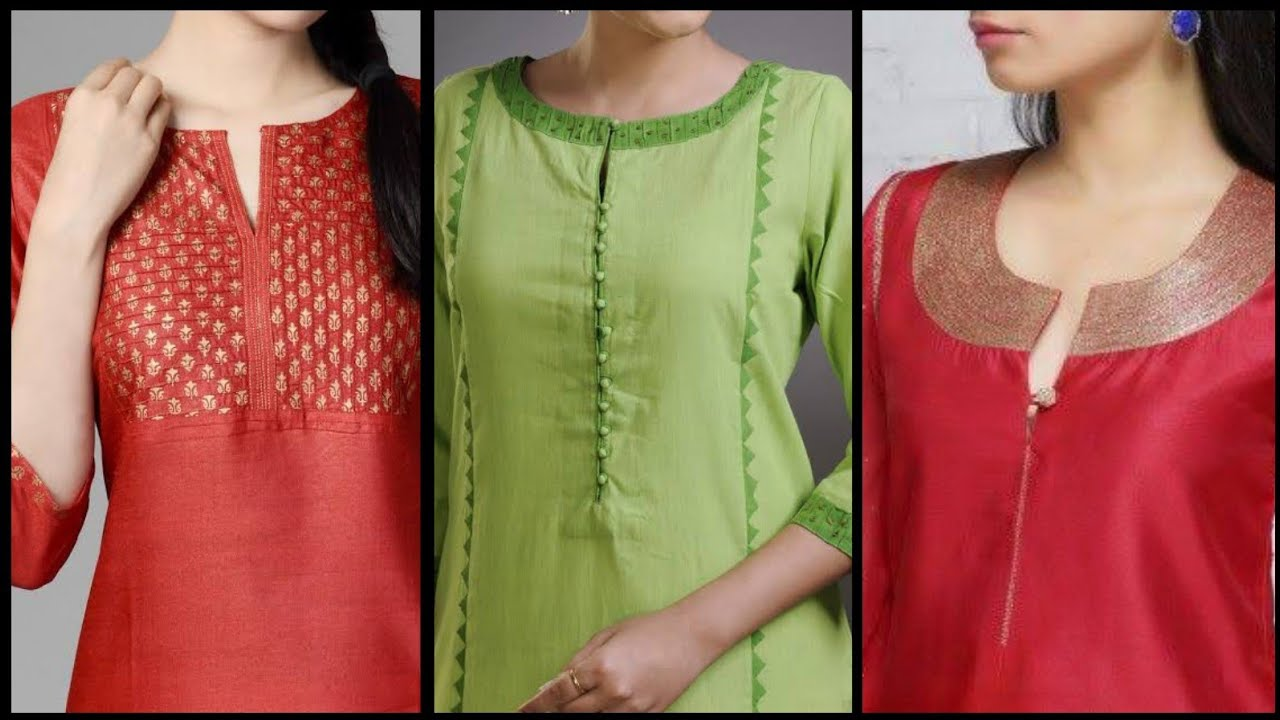 30 New Beautiful Neck Designs For Kurti Kameez Suit Churidar Neck Designs 2020 Styles Youtube