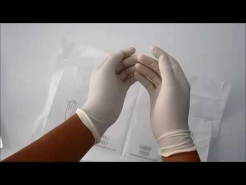 how to wear sterile glove (donning of gloves)