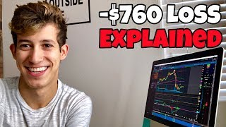 Explaining EXACTLY How I Lost $760 Day Trading | Investing 101