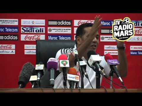 Conférence de presse de Rachid Taoussi