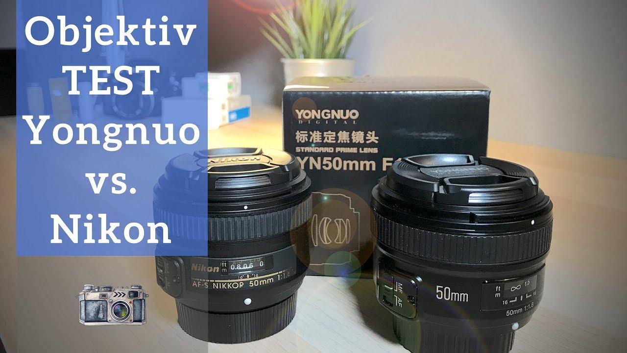 YONGNUO 50mm 1.8 TEST REVIEW VS NIKON 50mm 1.8 I Großer Test und ...