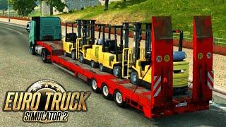 Euro Truck Simulator 2: EMPILHADEIRAS e ALTA VELOCIDADE!