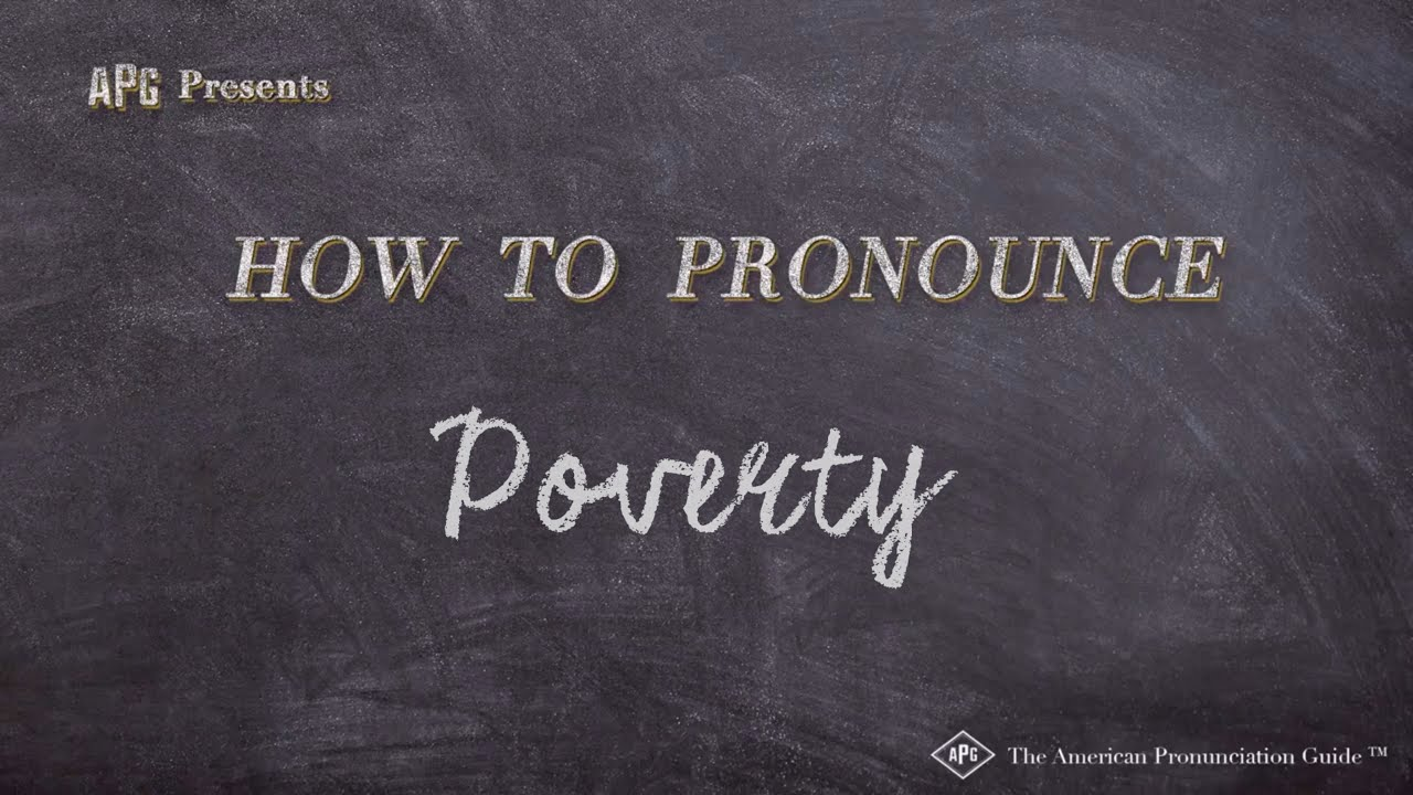 How to Pronounce Poverty  Poverty Pronunciation