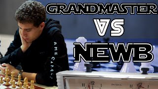 A Grandmaster Plays a Beginner Pt. 2 | Chess Mastery Explained