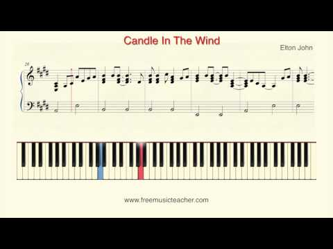 """How To Play Piano: Elton John """"Candle In The Wind"""" Piano Tutorial by Ramin Yousefi"""
