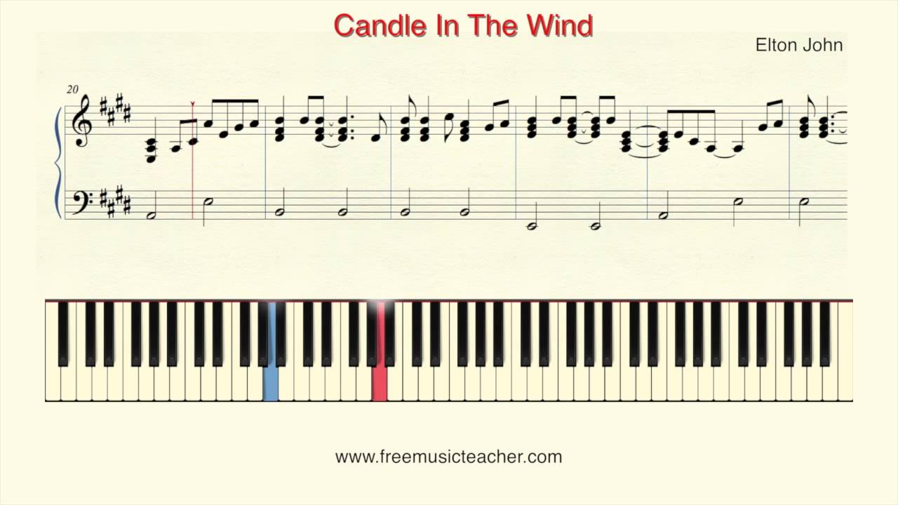 how to play piano elton john candle in the wind piano tutorial by ramin yousefi youtube. Black Bedroom Furniture Sets. Home Design Ideas