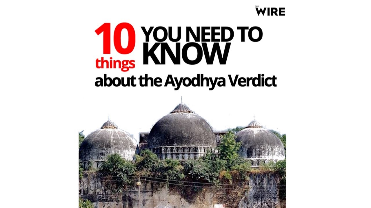 Ayodhya Verdict: 10 Things You Need To Know