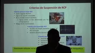 Criterios de suspensión de RCP y como notificar al familiar.