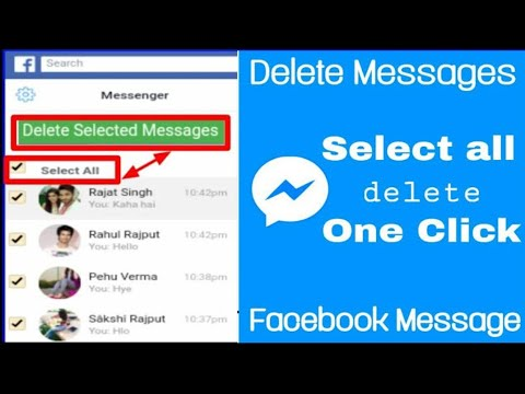 How To Delete All Facebook Messages In Android Mobile/part2