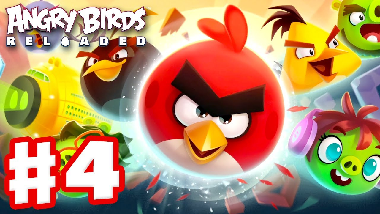 Angry Birds Reloaded - Gameplay Walkthrough Part 4 - When Birds Fly Levels 16-30! (Apple Arcade)
