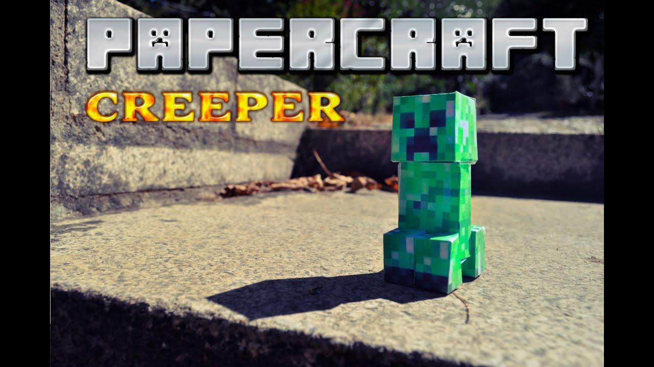 Papercraft Como hacer un creeper de PAPEL! PAPERCRAFT