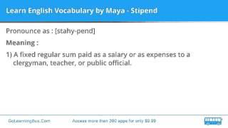 Learn English Vocabulary by Maya - Stipend