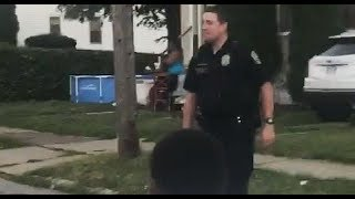 Watch: Hero Cop Called To Break Up 'Noisy' Football Game Joins In.