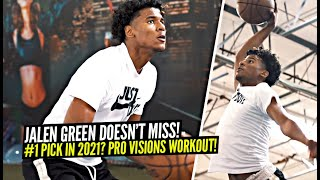 Jalen Green Goes NUTS During Pro Workout & DOESN'T MISS!! Insane Pro Visions Workout at Ethika!