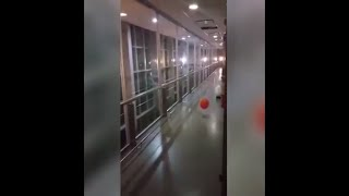 Ghost balloon in childrens hospital