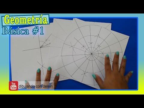 Como trazar las lineas guías para dibujar un Mandala