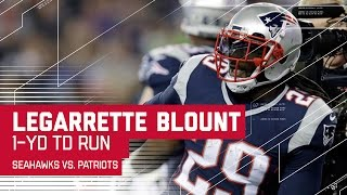 Gronk's Powerful Play Leads to Blount's TD Run! | Seahawks vs. Patriots | NFL