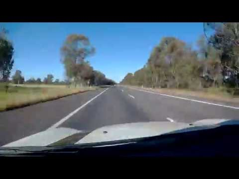 Melbourne to Albury Drive in 10 min (x20 speed)