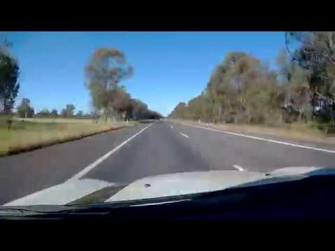 Melbourne to Albury Drive in 10 min (x20 speed) - albury