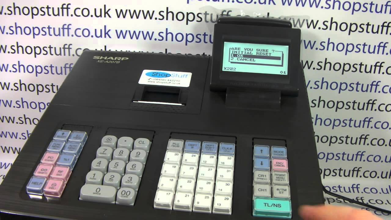 sharp xe a207 cash register instructions how to clear down the rh youtube com sharp xe-a23s cash register manual Sharp Electronic Cash Register Help