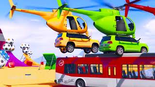 Kids leaningColors for Children with SUV Cars Helicopter w Bus Coloring Toy for Kids   Learn Colors