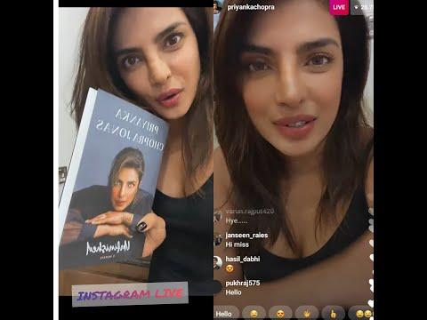 Priyanka chopra Instagram live chat with fans Book  Priyanka Chopra Jonas