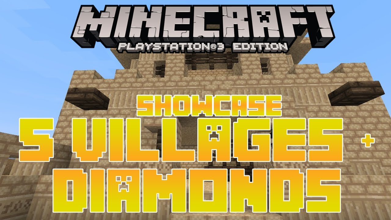 MineCraft PS11 Seed Review 11 Villages & Diamonds Playstation 11 Edition  Showcase Gameplay TU11