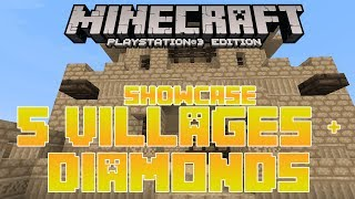 MineCraft PS3 Seed Review| 5 Villages & Diamonds Playstation 3 Edition Showcase Gameplay TU16