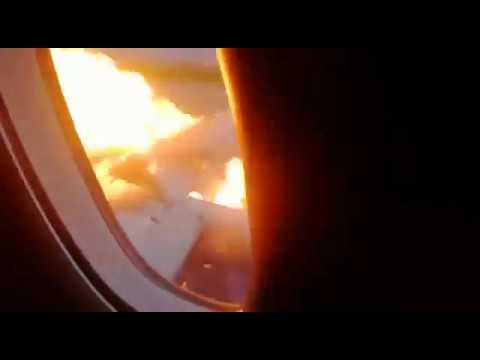 Видео из горящего