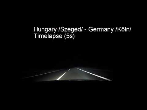 Our trip from Hungary to Great Britain /GoPro timelapse pt. 1