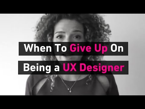 When Should You Give Up Being A UX Designer? | Sarah Doody