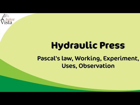 Hydraulic Press - Pascal's law, Working, Experiment, Uses, O