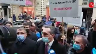 """Акция  протеста в Баку - """"Франция – убирайся из ОБСЕ!"""""""