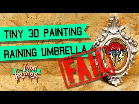 3D Tiny Painting - Traditional Tattoo Style Raining Umbrella - FAIL