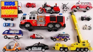 Emergency Vehicles For Kids Children Babies Toddlers | Fire Engine Crane | Kids Learning | Preschool