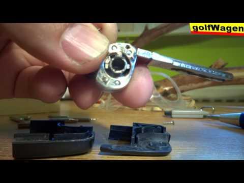 VW Golf KEY chip immobiliser location HOW TO DISMANTLE VW SEAT SKODA AUDI remote / rozbor klúča
