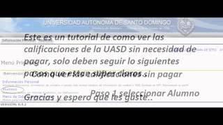 Como ver las calificaciones de la UASD sin pagar