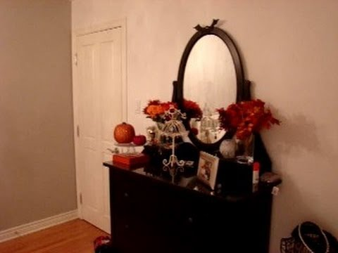 d corer sa chambre pour l 39 halloween et pour l 39 automne youtube. Black Bedroom Furniture Sets. Home Design Ideas